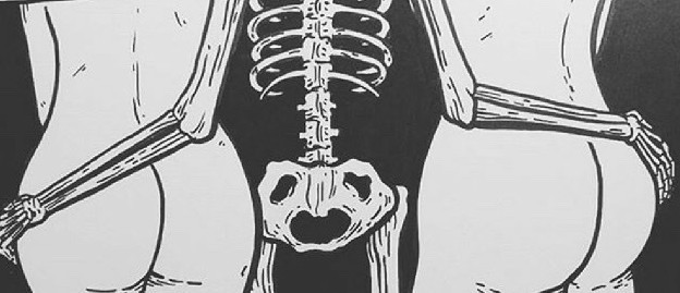 halloween inspiration skeleton with butts