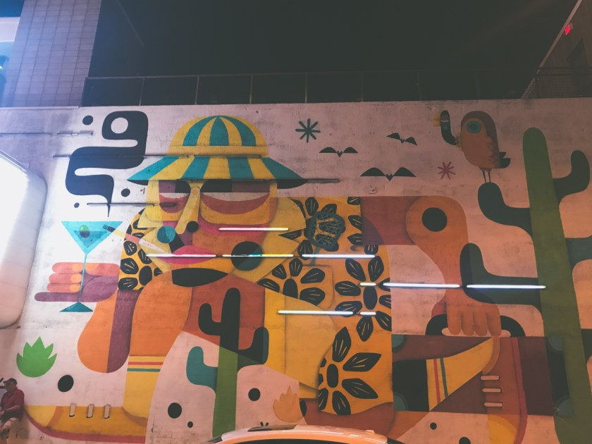 Hunter S. Thompson Mural in Las Vegas | The Great American Road Trip | ColleenWelsch.com