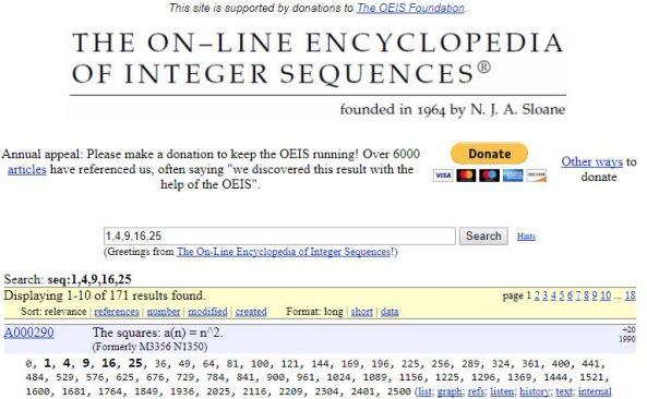 Encyclopedia of Integer Sequences