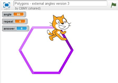 Polygons - external angles version 3