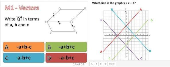 Diagnostic Questions - vectors & lines