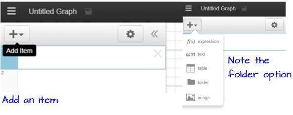 Desmos Folders