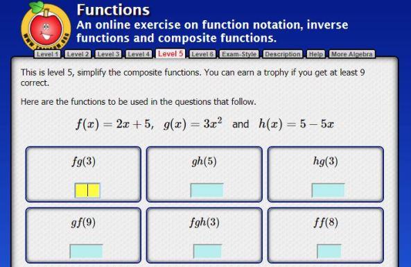 Functions - Transum