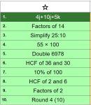 J Hall Maths Tools