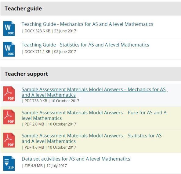 Edexcel Teacher Support