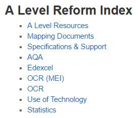 A Level Reform Index
