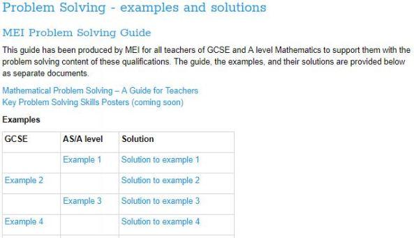 MEI Problem Solving