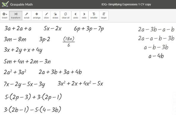 Simplify Expressions IDQ