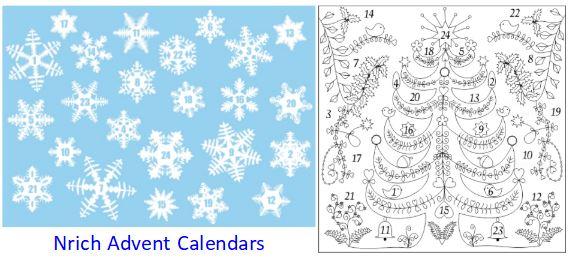Nrich Advent Calendars