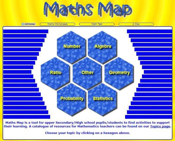 Transum Maths Map
