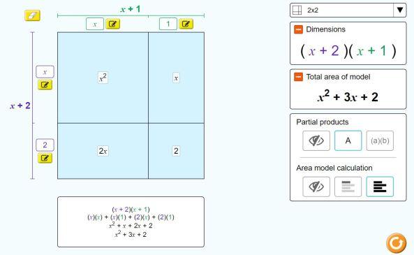 Algebra - Area model