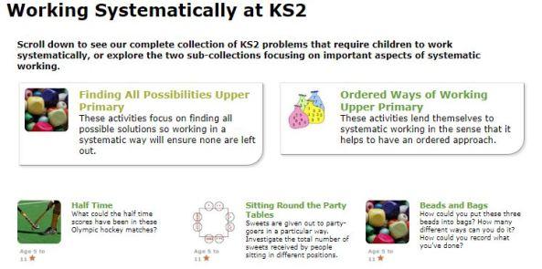 Nrich KS2 Working Systematically