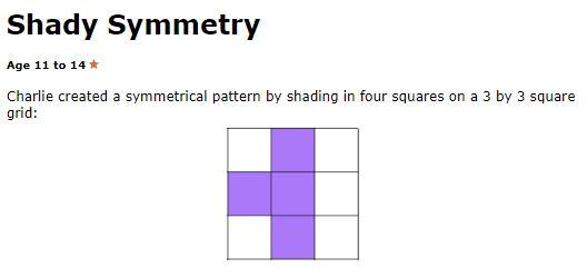 Shadt Symmetry - Nrich