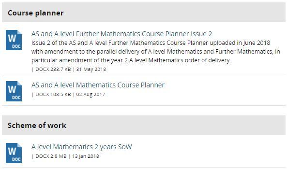 Edexcel Course Planners & Schemes of Work