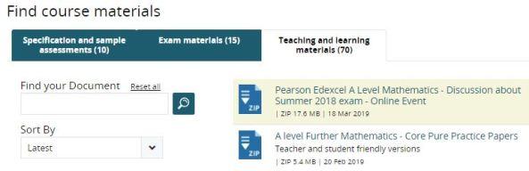 Edexcel new teaching materials