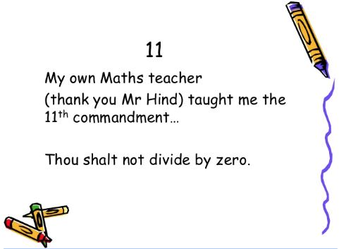 thou shalt not divide by zero