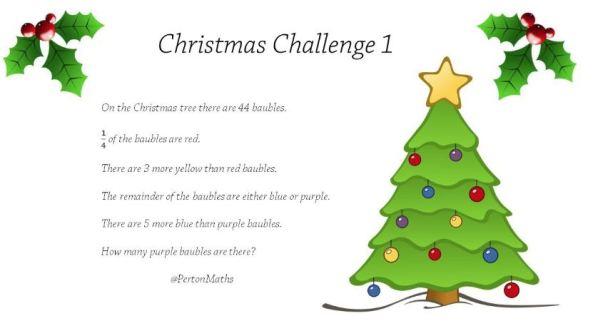 Perton Maths Christmas Challenge 1