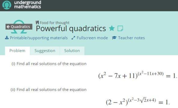 UM Powerful Quadratics