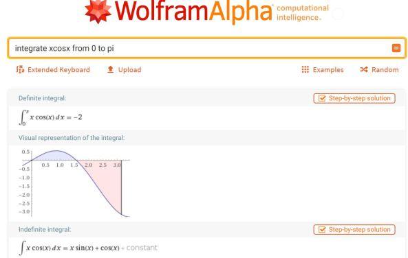 WolframAlpha integral