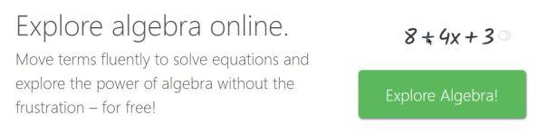 Explore algebra online