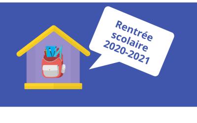 Information rentrée scolaire 2020 – 2021