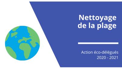 Nettoyage de la plage : action des éco-délégués 2021