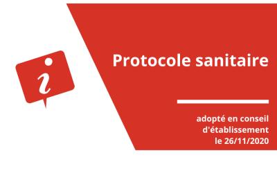 Protocole sanitaire à partir du 30/11/2020