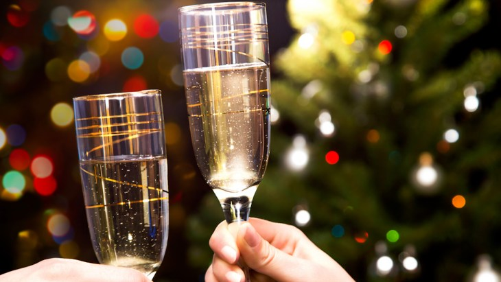 champagne toast holidays healthy drinks