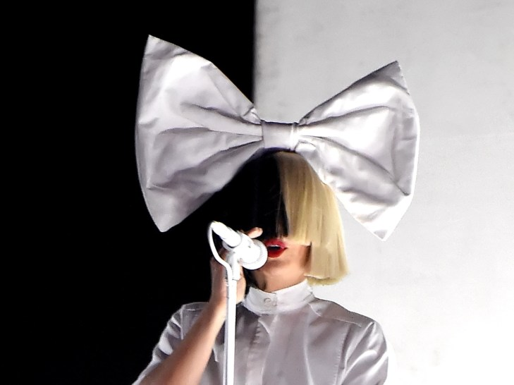 Sia face photos pictures without wig