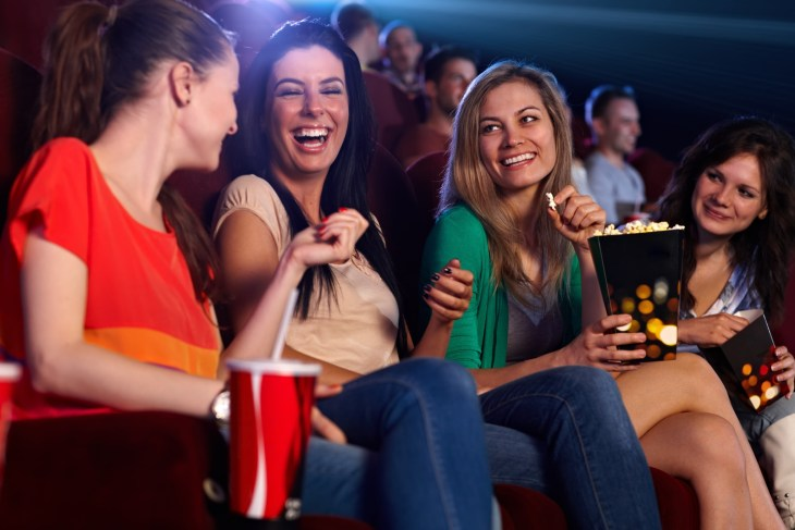Group of girls at the movies