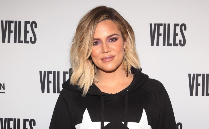 Khloe Kardashian at the Good American popup store