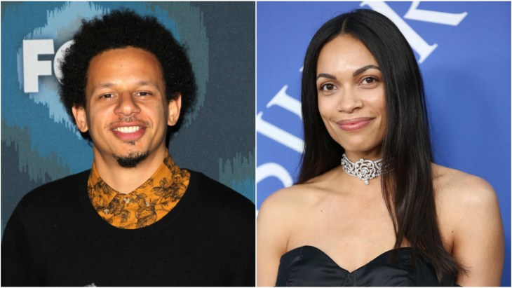 Eric Andre at the 2015 Fox All-Star Party. Rosario Dawson on the red carpet at the 2018 CFDA Fashion Awards in Brooklyn, New York.