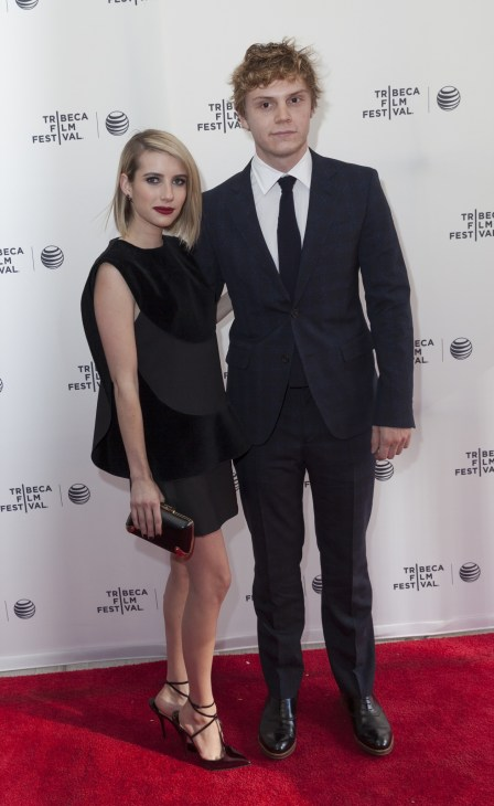 Evan Peters and Emma Roberts attend the Palo Alto Premiere