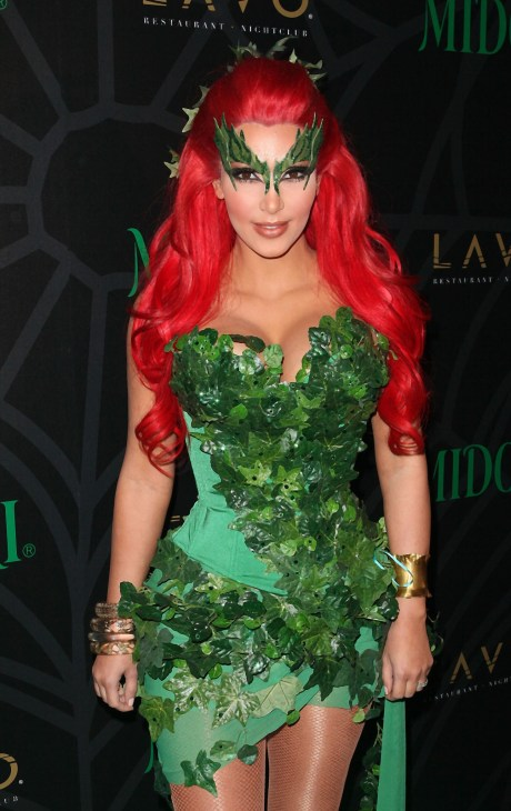 Kim Kardashian dressed up as Poison Ivy