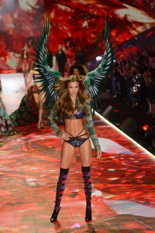 Josephina Skriver modeling at the Victorias's Secret Fashion Show 2018