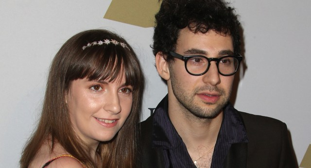 Lena Dunham and Jack Antonoff at the Clive David pre-Grammy Gala in 2017