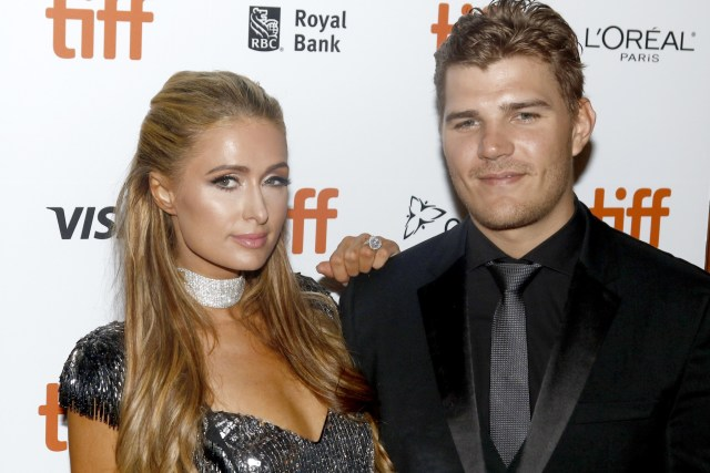 Paris Hilton and fiancee Chris Zylka at the 43rd Toronto International Film Festival premiere of The Death and Life of John F. Donovan