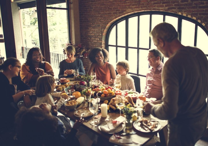Thanksgiving dinner with friends and family