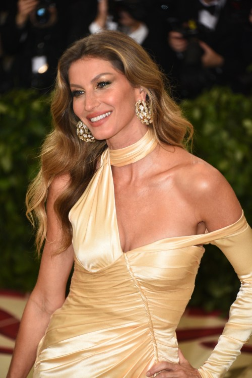 Gisele Bundchen at the Met Gala 2018 made the highest paid models 2018 list
