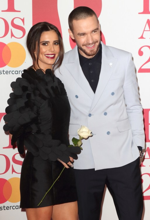 Liam Payne and girlfriend Cheryl Cole at The BRIT Awards 2018