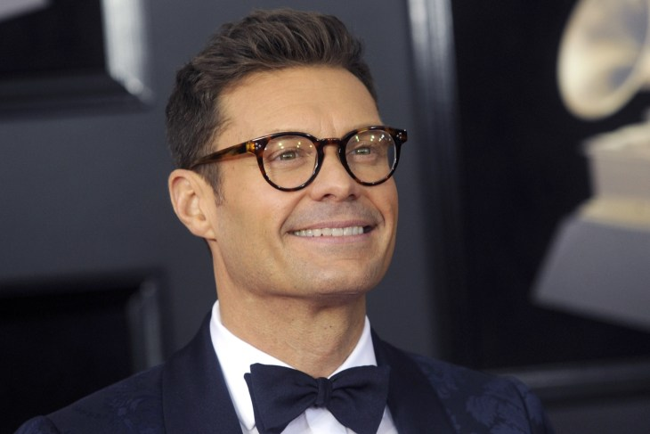 Ryan Seacrest at the 60th Grammy Awards in 2018