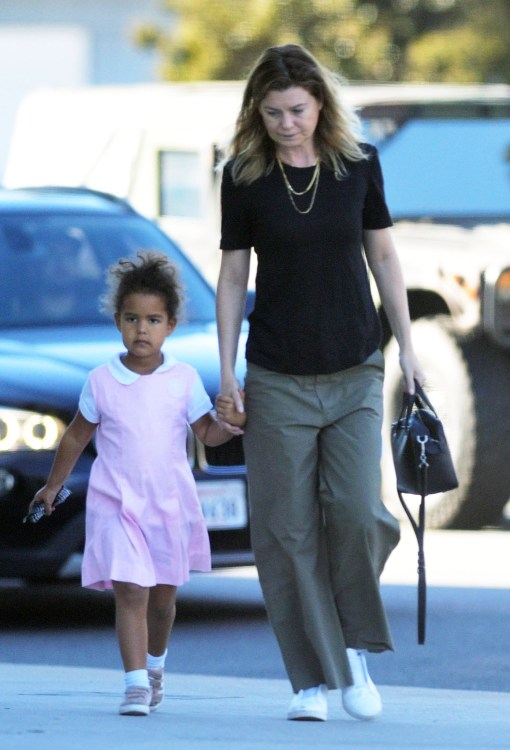 Ellen Pompeo goes out for breakfast with her daughter Sienna May Ivery