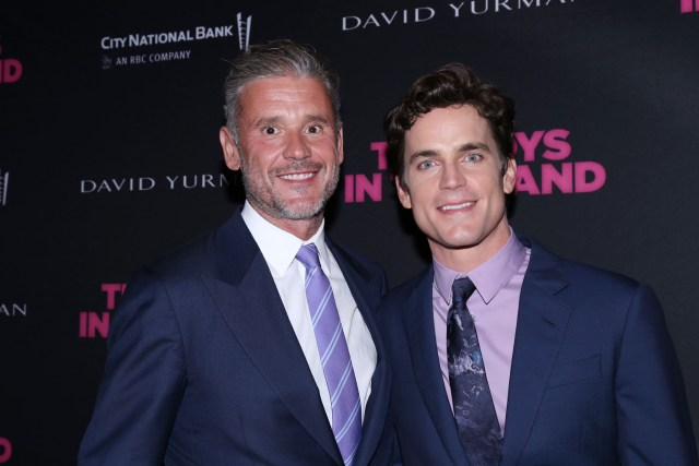 Matt Bomer and husband Simon Hall at The Boys In The Band after party