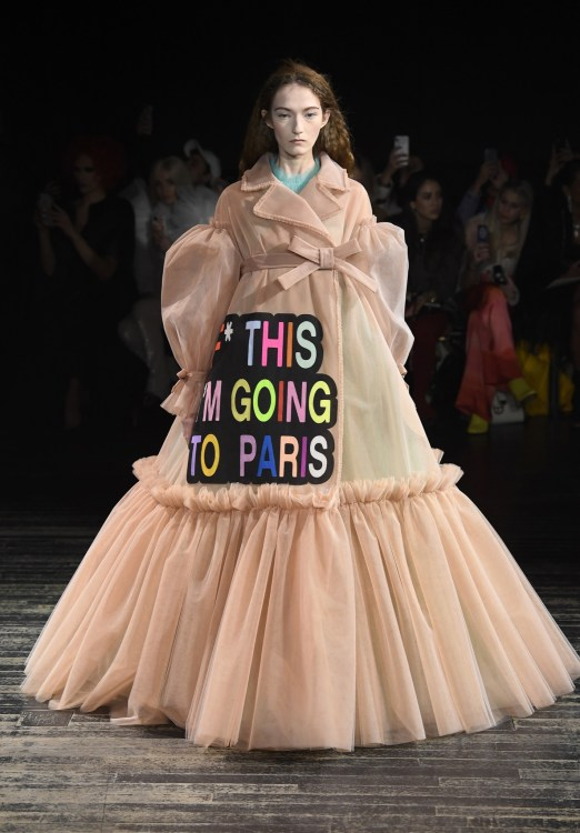 Viktor & Rolf fuck this i'm going to paris Couture Dress