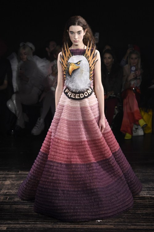 Viktor & Rolf freedom eagle Couture Dress
