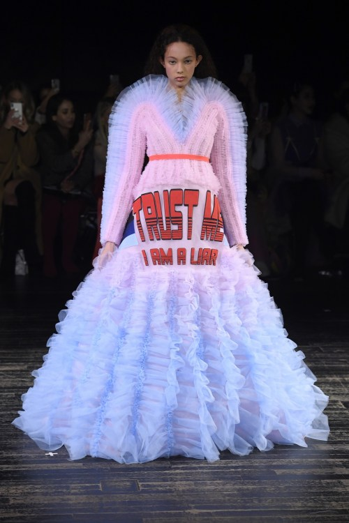 Viktor & Rolf trust me I am a liar Couture Dress