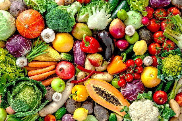 A beautiful blend of fruits and vegetables