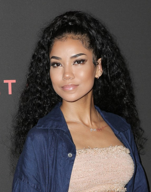 Jhene Aiko with high pony tail arriving to Spotify Secret Genius Awards