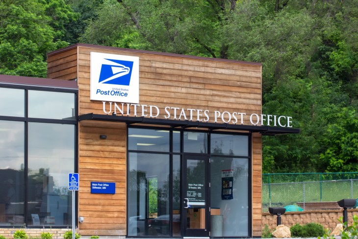 United States Post Office building. The United States Postal Service provides postal service in the United States.