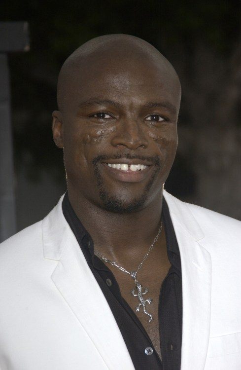 Seal the singer in a nice, white tux.